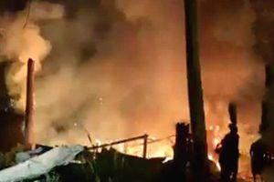 Cháy xưởng chế biến đồ gỗ tại Đà Lạt