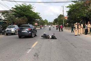 Đại úy CSGT bị xe vi phạm tông gãy chân