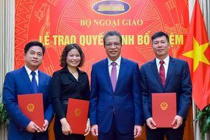 Bộ Ngoại giao, Bộ Y tế, Bộ Quốc phòng có nhân sự, lãnh đạo mới