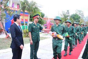 Ninh Thuận: Hơn 1.000 thanh niên lên đường nhập ngũ