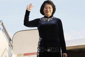 Phó Chủ tịch nước Đặng Thị Ngọc Thịnh lên đường thăm Cộng hòa Ấn Độ