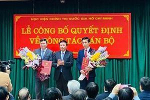 Bổ nhiệm hai Phó Giám đốc Học viện Chính trị quốc gia Hồ Chí Minh