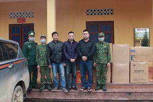 BĐBP Cao Bằng thu giữ 50.000 chiếc khẩu trang y tế vận chuyển trái phép