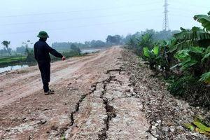 Dự án tu bổ đê hữu sông Hoàng (Thanh Hóa): Cấp thiết nhưng thi công lề mề