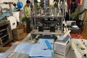 Xưởng sản xuất khẩu trang trái phép ở Hải Phòng