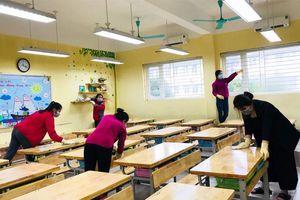 Hà Nội triển khai khử trùng, vệ sinh trường lớp lần 3