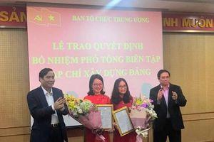 Ban Tổ chức Trung ương trao Quyết định bổ nhiệm 2 Phó Tổng Biên tập Tạp chí Xây dựng Đảng