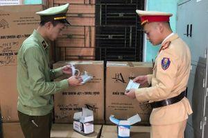 Lạng Sơn: Thu giữ lô khẩu trang không có hóa đơn