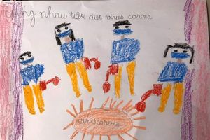 Học sinh Hà Nội viết thư, vẽ tranh cổ vũ các bạn học sinh Vĩnh Phúc
