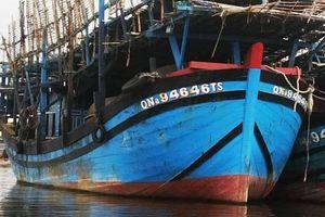 Nghi do chập điện, một tàu câu mực của ngư dân Quảng Nam cháy ở Trường Sa