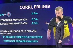 Haaland chỉ kém kỷ lục chạy thế giới 0,3 giây