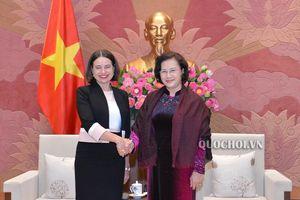 Chủ tịch Quốc hội Nguyễn Thị Kim Ngân tiếp Đại sứ Australia Robyn Mudie