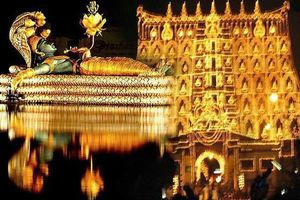 Ngôi đền dát hơn nửa tấn vàng chứa kho báu giàu có nhất thế giới
