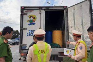 Tài xế xe tải chạy quá tốc độ, bất hợp tác với CSGT