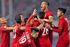 Đội tuyển Việt Nam tiếp tục dẫn đầu Đông Nam Á trên bảng xếp hạng FIFA