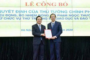 Trao quyết định bổ nhiệm Thứ trưởng Bộ Giáo dục - Đào tạo