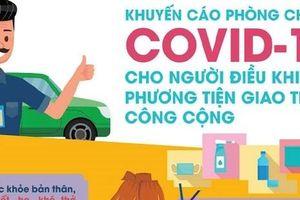 Khuyến cáo phòng chống Covid-19 cho người điều khiển phương tiện giao thông
