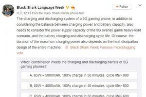 Black Shark 3 5G xác nhận đi kèm sạc 65W, pin 5.000 mAh