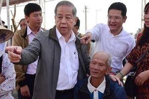 Người dân Thượng Thành vui mừng trong lễ khởi công xây nhà tại nơi ở mới