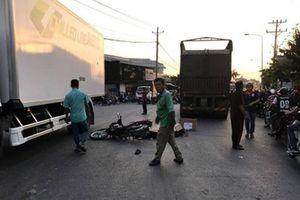 Va chạm xe container tại điểm đen TNGT, người đi xe máy tử vong tại chỗ