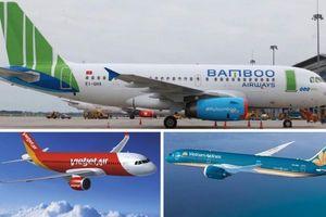 Vietnam Airlines, Vietjet Air, Bamboo thiệt hại cỡ nào trong tháng 2 vì Sars-CoV-2?