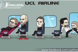 Ảnh chế: Lampard 'quyết đạp' Ole và Mourinho khỏi chuyến bay tới Champions League mùa sau