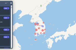 Người Hàn Quốc dựa vào bản đồ số để theo dõi virus SARS-COV-2 lây lan
