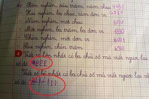 Pha giải toán 'sáng tạo' của học sinh lớp 1 có 'IQ vô cực' khiến dân mạng cười ngất