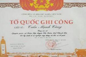 Công nhận liệt sỹ Phó trưởng công an xã hy sinh khi làm nhiệm vụ