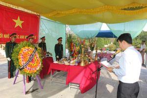 Thừa Thiên Huế tổ chức truy điệu và an táng hài cốt liệt sĩ