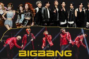 Giữa 'rừng' thần tượng Gen 3, BIG BANG vẫn 'hiên ngang' lọt top nhóm nhạc phổ biến nhất trên nền tảng âm nhạc quốc tế