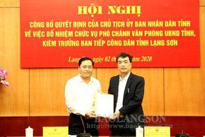 Hà Giang, Lạng Sơn bổ nhiệm nhân sự, lãnh đạo mới