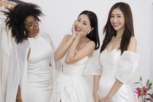 MC Liêu Hà Trinh háo hức thử váy cưới