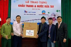 Hội Doanh nhân Cựu chiến binh tỉnh trao tặng khẩu trang và nước rửa tay phòng chống dịch Covid-19