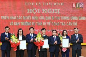 Bổ nhiệm nhân sự, lãnh đạo mới tại Thái Bình, Bắc Ninh, Bạc Liêu