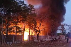 Hàng trăm cảnh sát PCCC dập lửa trong Khu công nghiệp Cát Lái