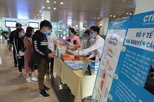 Sân bay Cần Thơ thực hiện giám sát y tế 1.868 khách từ Hàn Quốc trở về