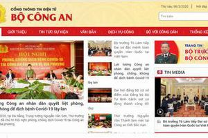 Cung cấp thông tin đảm bảo hoạt động Cổng TTĐT Bộ Công an trên Internet