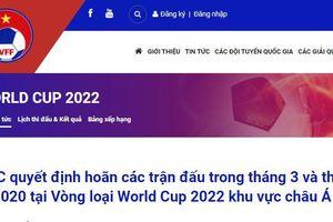 Quyết định của AFC về vòng loại World Cup 2022