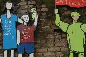 Ngỡ ngàng trước con đường rác biến thành không gian nghệ thuật dưới chân cầu Long Biên