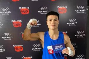 Cận cảnh cú đấm móc đầy uy lực của võ sĩ Việt Nam hạ gục đối thủ Thái Lan chỉ sau 30 giây, đoạt vé dự Olympic