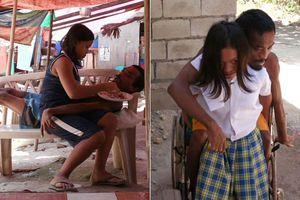 Cô bé 11 tuổi bỏ cả tuổi thơ, ngày ngày gồng gánh chăm bố tật nguyền