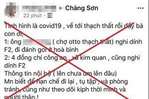'Phao' tin về dịch Covid-19 xuất hiện ở huyện Thạch Thất, nam thanh niên bị phạt 12,5 triệu đồng