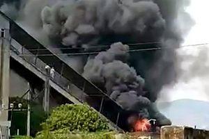 Gia Lai: Cháy lớn ở Nhà máy xi măng Sông Đà