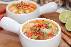 Công thức nấu súp tôm chua cay chuẩn kiểu Thái