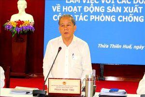 Dịch COVID-19: Thừa Thiên-Huế đồng hành cùng doanh nghiệp khắc phục khó khăn