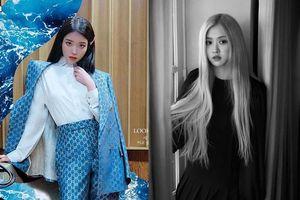 IU diện cả cây Gucci, Rosé không kém cạnh với đồ Saint Laurent