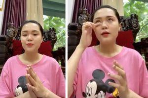 Quỳnh Anh rơi nước mắt khi nhắc đến chồng đang điều trị ở Singapore