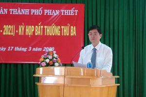 Tân Chủ tịch UBND TP Phan Thiết nhậm chức không lễ ra mắt, không hoa chúc mừng