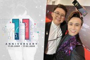 Huỳnh Lập đăng ảnh kỷ niệm 11 năm, bạn bè chúc mừng, người quen gọi tên Hồng Tú